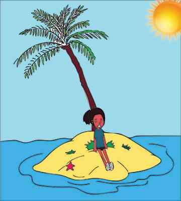 Gaia si scotta la sole senza protezione solare